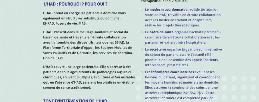 L'HOSPITALISATION A DOMICILE (HAD)