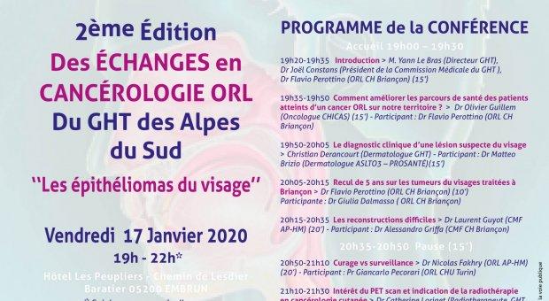 2ème Édition Cancero ORL GHT 17.01.2020